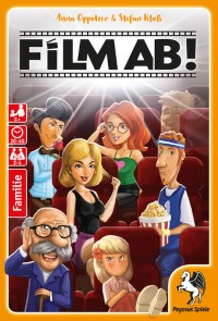 Showtime! Film ab! - Film ab!, Pegasus Spiele, 2018 — front cover (image provided by the publisher)