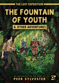 The Lost Expedition: The Fountain of Youth & Other Adventures The Lost Expedition: The Fountain of Youth & Other Adventures - The Lost Expedition: The Fountain of Youth & Other Adventures, Osprey Games, 2018 — front cover (image provided by the publisher)