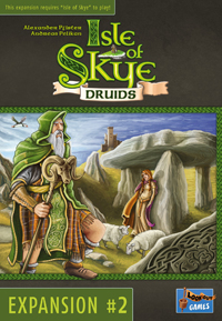 Isle of Skye: Druids Isle of Skye: Druiden - Isle of Skye: Druids, Lookout Games, 2018 — front cover (image provided by the publisher)