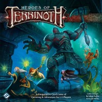 Heroes of Terrinoth, Fantasy Flight Games, 2018 — front cover (image provided by the publisher)