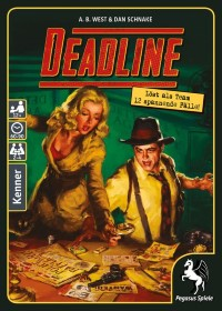 Deadline, Pegasus Spiele, 2018 — front cover (image provided by the publisher)