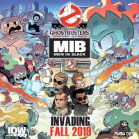 Men In Black/Ghostbusters: Ecto-terrestrial Invasion, IDW Games/Panda Cult Games, 2019 — promotional image