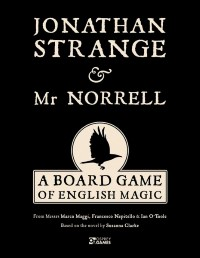 Jonathan Strange & Mr Norrell: A Board Game of English Magic, Osprey Games, 2019 — front cover (image provided by the publisher)