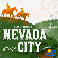 Nevada City, Rio Grande Games, 2019 — front cover (image provided by the publisher)