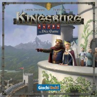 Kingsburg: The Dice Game, Giochi Uniti/Stratelibri, 2019 — front cover (image provided by the publisher)