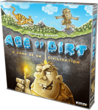 Age of Dirt: A Game of Uncivilization, WizKids, 2019 (image provided by the publisher)