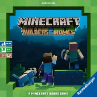 Minecraft: Builders & Biomes, Ravensburger, 2019 — front cover (image provided by the publisher)