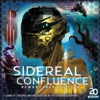 Sidereal Confluence: Trading and Negotiation in the Elysian Quadrant, WizKids, 2020 — front cover, remastered edition (image provided by the publisher)