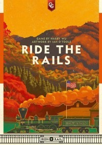 Ride the Rails, Capstone Games, 2020 — front cover (image provided by the publisher)