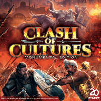 Clash of Cultures: Monumental Edition, WizKids, 2020 — front cover (image provided by the publisher)