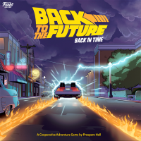 Back to the Future: Back in Time, Funko Games, 2020 — front cover (image provided by the publisher)