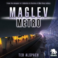 Maglev Metro, Bézier Games, 2020 — front cover (image provided by the publisher)