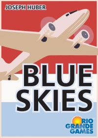 Blue Skies, Rio Grande Games, 2020 — front cover (image provided by the publisher)