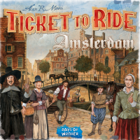 Ticket to Ride: Amsterdam, Days of Wonder, 2020 — front cover (image provided by the publisher) - Brettspiel
