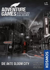 Adventure Games: Die Akte Gloom City, KOSMOS, 2021 — front cover (image provided by the publisher
