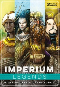 Imperium: Legends, Osprey Games, 2021 — front cover (image provided by the publisher)