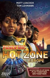 Pandemic: Hot Zone – Europe, Z-Man Games, 2021 — front cover (image provided by the publisher)