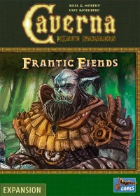 Caverna: Frantic Fiends, Lookout Games, 2021 — front cover (image provided by the publisher)