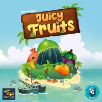 Juicy Fruits, Capstone Games, 2021 — front cover (image provided by the publisher)