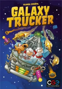 Galaxy Trucker, Czech Games Edition, 2021 — front cover, second edition (image provided by the publisher)