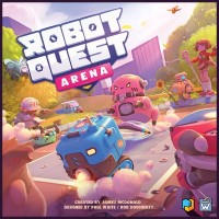 Robot Quest Arena, Perfect Day Games / Wise Wizard Games, 2022 — front cover (image provided by the publisher)