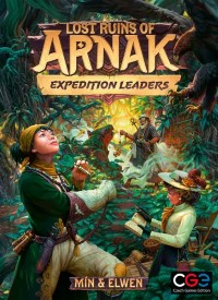 Lost Ruins of Arnak: Expedition Leaders, Czech Games Edition, 2021 — front cover (image provided by the publisher)