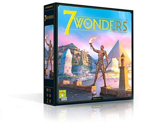 Asmodee 7 Wonders (Auflage 2020), Grundspiel, Kennerspiel, Strategiespiel, Deutsch