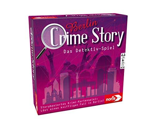 Noris 606201889 Crime Story Detektiv Spiel-Storybasiertes Krimi-Kartenspiel zum Thema Berlin, ab 12...
