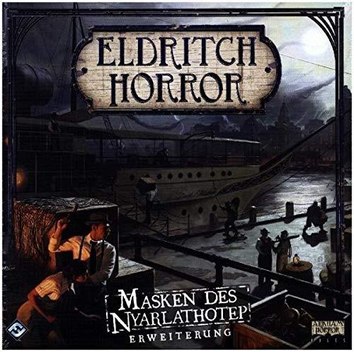 Asmodee Eldritch Horror - Masken des Nyarlathotep, Erweiterung, Expertenspiel, Strategiespiel,...