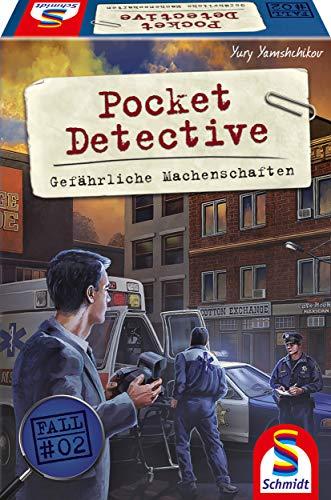 Schmidt Spiele 49378 Pocket Detective, Gefährliche Machenschaften, Krimi-und Dedektivspiel,...