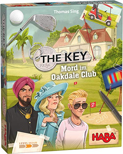 HABA 305610 - The Key – Mord im Oakdale Club, detektivisches Krimi-Spiel für 1–4 Spieler ab 8...