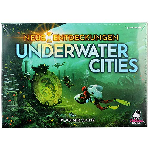 Underwater Cities: New Discoveries, Delicious Games, 2019 — front cover (image provided by the publisher)
