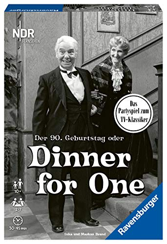 Dinner for One, Ravensburger, 2020 — front cover (image provided by the publisher)