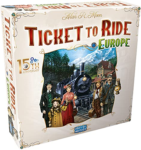 Days of Wonder DO7233 Ticket to Ride Europe Brettspiel 15. Jubiläum Deluxe Edition | ab 8 Jahren |...