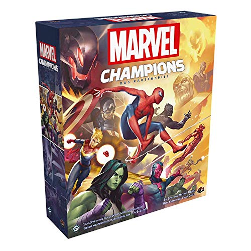 Marvel Champions: The Card Game, Fantasy Flight Games, 2019 — front cover (image provided by the publisher)