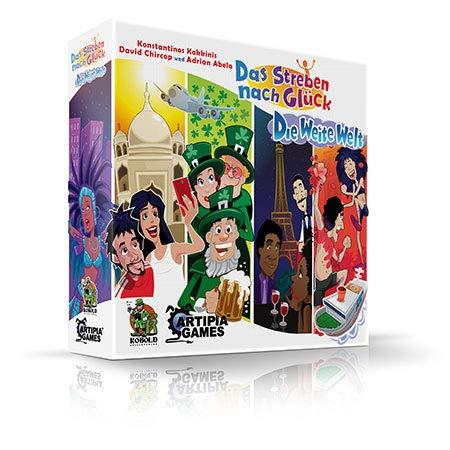 Kobold Spieleverlag Das Streben nach Glück - Die Weite Welt Erweiterung Brettspiel deutsch