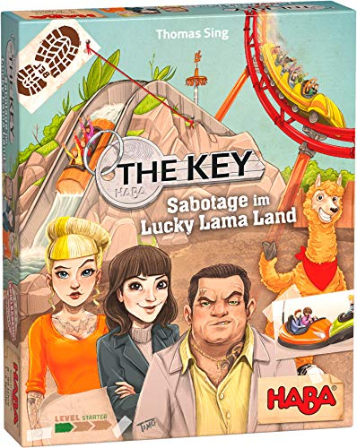 HABA 305855 - The Key – Sabotage im Lucky Lama Land, Spiel ab 8 Jahren, made in Germany