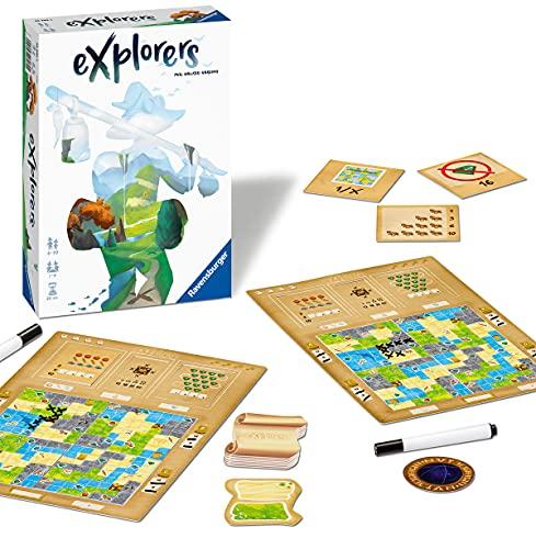 Ravensburger 26982 - Explorers - Abwechslungsreiches Flip & Write Spiel für Erwachsene und Kinder...
