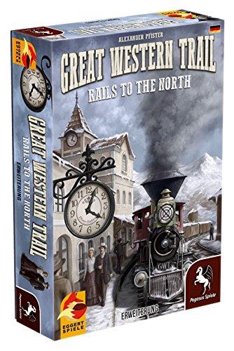Pegasus Spiele 54591G - Great Western Trail Rails to the North (Erweiterung) (eggertspiele)