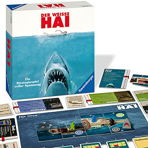 Ravensburger Brettspiel Der weisse Hai - Spannendes Strategiespiel für Erwachsene und Kinder ab 12...