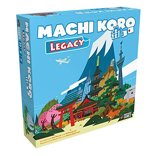 Machi Koro Legacy, Pandasaurus Games, 2019 — front cover (image provided by the publisher)