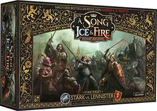 CMON CMN0055 Asmodee A Song of Ice & Fire - Stark vs. Lannister Starterset, Grundspiel, Tabletop,...