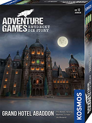 Adventure Games: Grand Hotel Abaddon, KOSMOS, 2020 — front cover (image provided by the publisher)