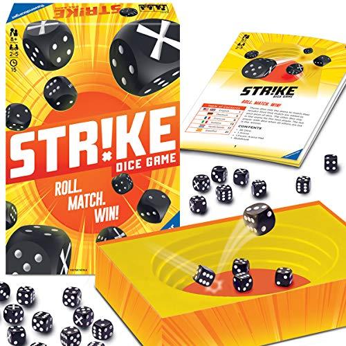 Ravensburger 26840 - Strike, Brettspiel, Mehrfarbiges Würfelspiel für 2-5 Spieler, Mitbringspiel...