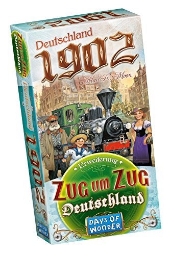 Zug um Zug: Deutschland – Deutschland 1902, Days of Wonder, 2015 (image provided by the publisher)
