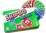 Mattel Games L3671 Skip-Bo Deluxe in Metalldose Kartenspiel, geeignet für 2 - 6 Spieler, Spieldauer...