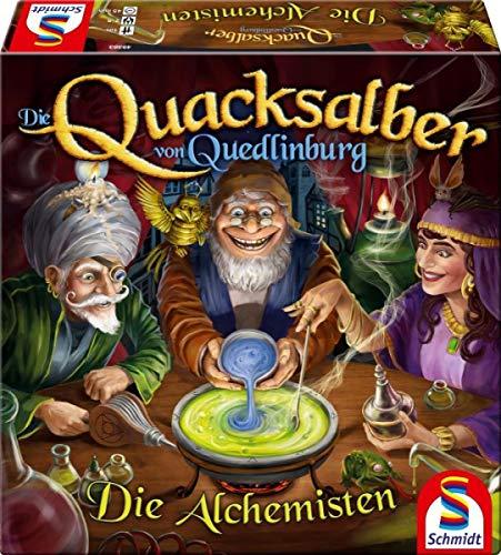 Die Quacksalber von Quedlinburg: Die Alchemisten, Schmidt Spiele, 2020 — front cover (image provided by the publisher)