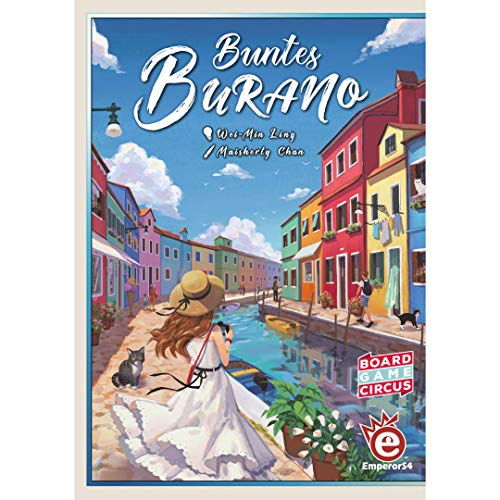 Walking in Burano, Alderac Entertainment Group/EmperorS4, 2019 — front cover (image provided by the publisher)