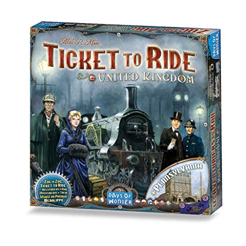 Ticket to Ride Map Collection: Volume 5 – United Kingdom & Pennsylvania, Days of Wonder, 2015 — front cover (image provided by the publisher)
