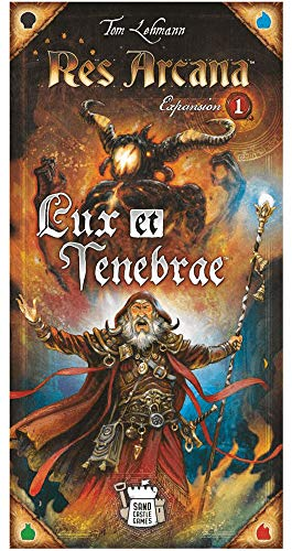 Res Arcana: Lux et Tenebrae, Sand Castle Games, 2020 — front cover (image provided by the publisher) - Erweiterungen